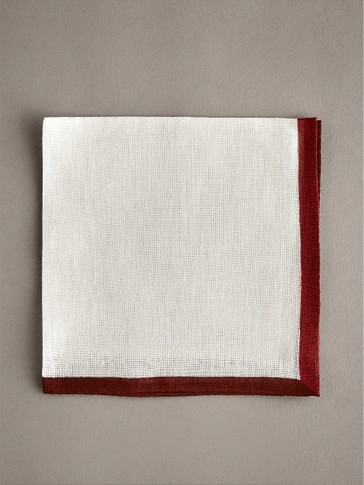 PLAIN 100% LINEN POCKET SQUARE