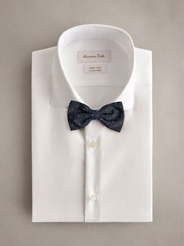 POLKA DOT SILK COTTON BOW TIE