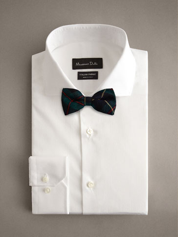 100% WOOL CHECK BOW TIE
