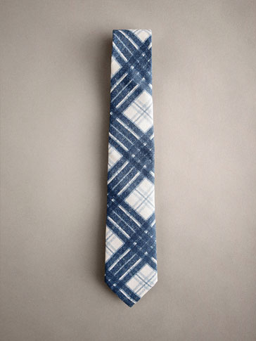 CHECK COTTON/SILK TIE