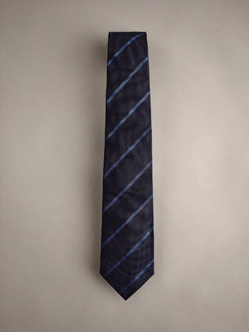 PERSONAL TAILORING 100% SILK STRIPED TIE