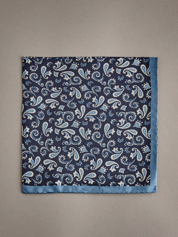 PERSONAL TAILORING 100% SILK PAISLEY POCKET SQUARE