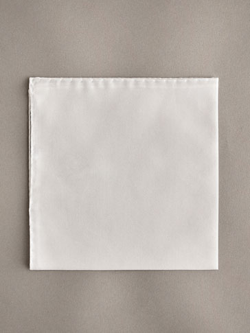 PERSONAL TAILORING PLAIN COTTON POCKET SQUARE