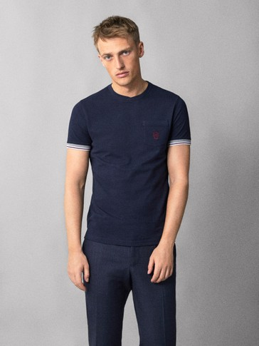 COTTON T-SHIRT WITH CREST