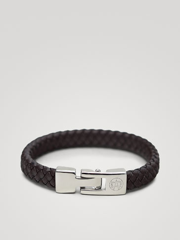 BRAIDED HERRINGBONE LEATHER BRACELET