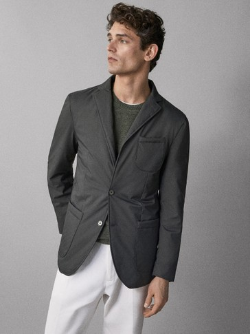 SLIM-FIT TEKNISK BLAZER