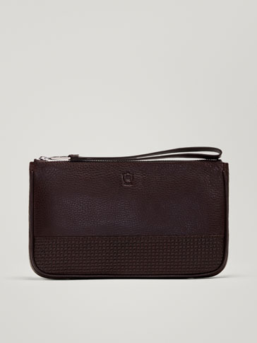 LEATHER MONTANA CLUTCH