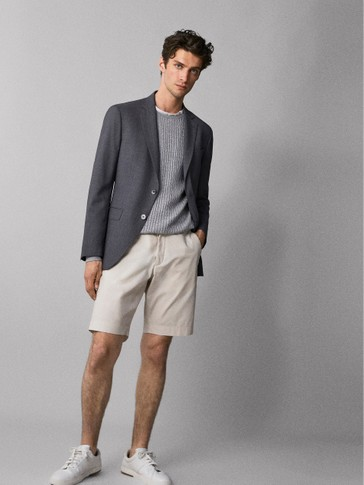 TECHNICAL COTTON BERMUDA SHORTS