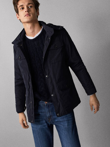 NAVY JACKET WITH POCKETS
