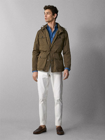 JACKET WITH POCKETS AND REMOVABLE GILET