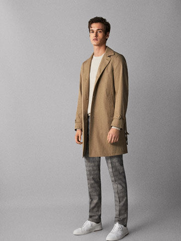 COTTON TRENCH COAT WITH BELT
