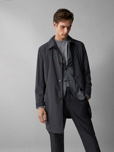 REVERSIBLE TECHNICAL TRENCH COAT