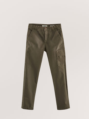PANTALONI MILITARI IN COTONE REGULAR FIT