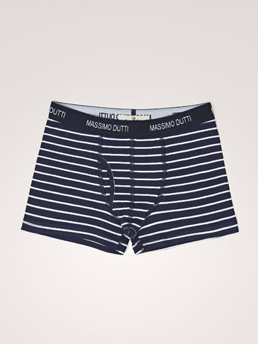 STRIPED BOXER SHORTS