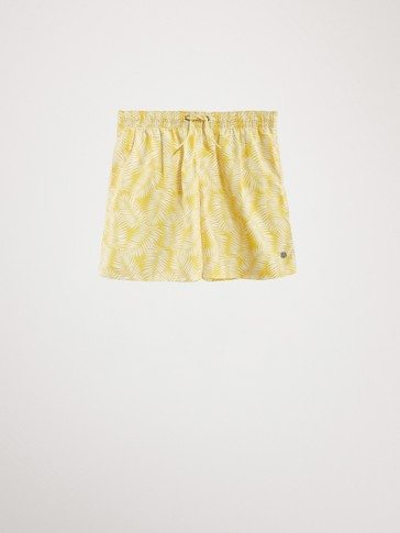 PALM LEAF SWIMMING TRUNKS
