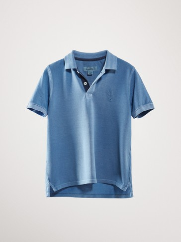 DYED COTTON POLO SHIRT WITH SURFBOARDS