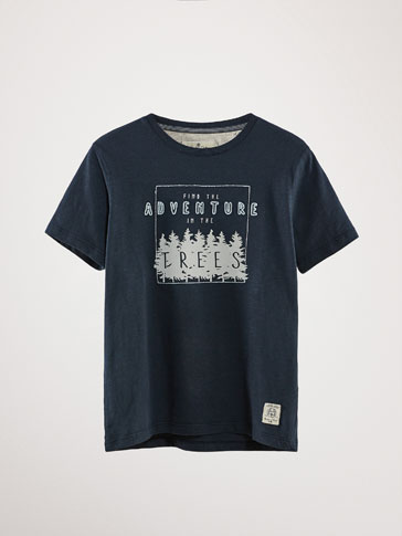 "BAUMWOLL-T-SHIRT ""ADVENTURE"""