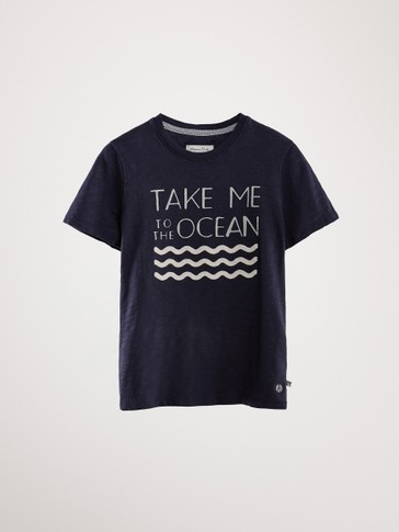 CAMISETA ALGODÓN TAKE ME TO THE OCEAN