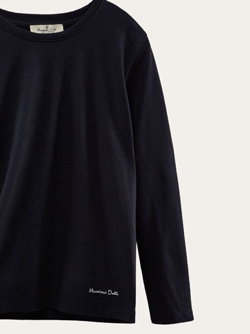 BASIC SOLID LONG SLEEVE T-SHIRT