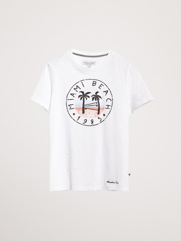 CAMISETA ALGODÓN MIAMI BEACH