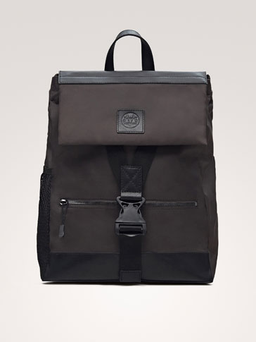 COMBINED TECHNICAL BACKPACK WITH LEATHER