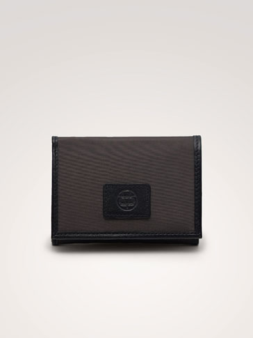 COMBINED TECHNICAL WALLET WITH LEATHER