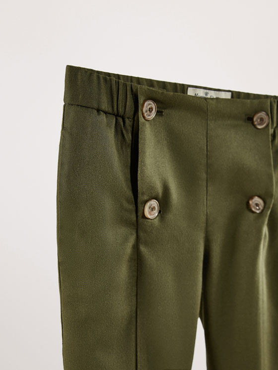 Massimo Dutti - SLIM FIT LYOCELL TROUSERS WITH BUTTON DETAIL - 2