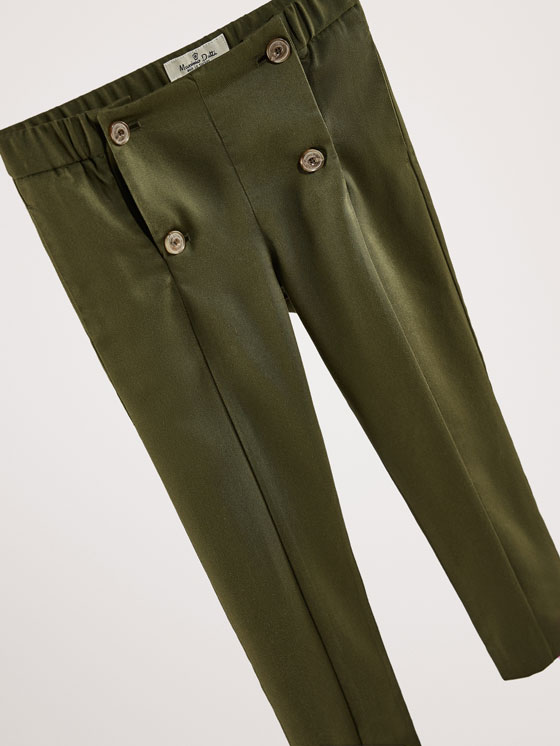 Massimo Dutti - SLIM FIT LYOCELL TROUSERS WITH BUTTON DETAIL - 3