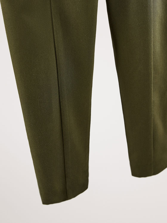 Massimo Dutti - SLIM FIT LYOCELL TROUSERS WITH BUTTON DETAIL - 4