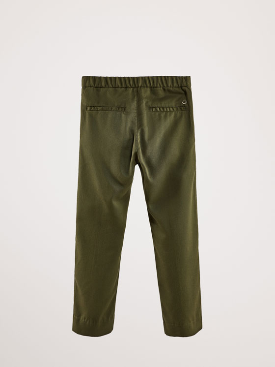 Massimo Dutti - SLIM FIT LYOCELL TROUSERS WITH BUTTON DETAIL - 5