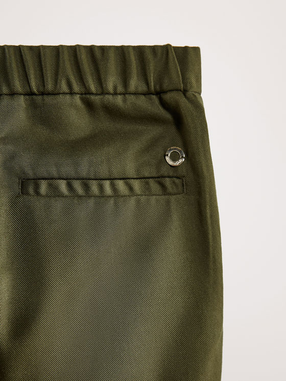Massimo Dutti - SLIM FIT LYOCELL TROUSERS WITH BUTTON DETAIL - 6