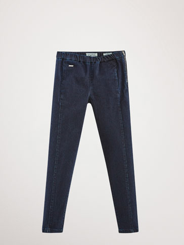 SEAMED SKINNY JEANS