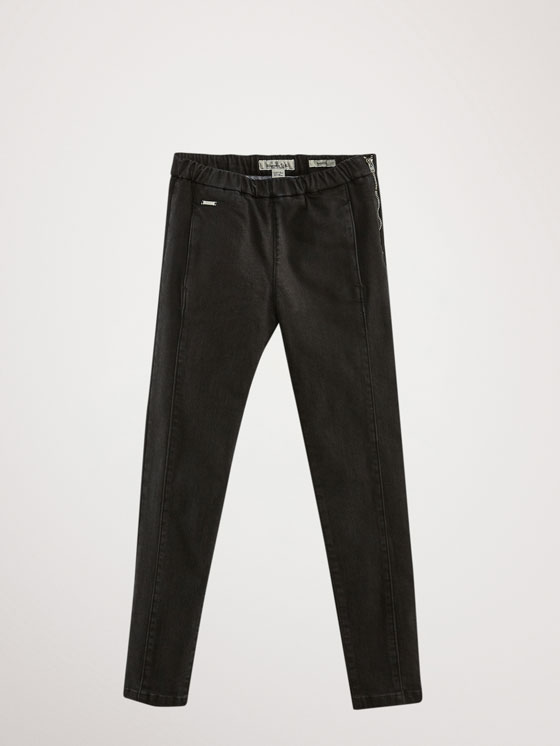 Massimo Dutti - JEAN NOIR COUTURES COUPE SKINNY - 1