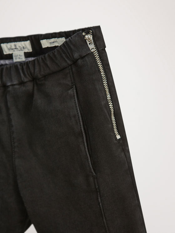 Massimo Dutti - JEAN NOIR COUTURES COUPE SKINNY - 2
