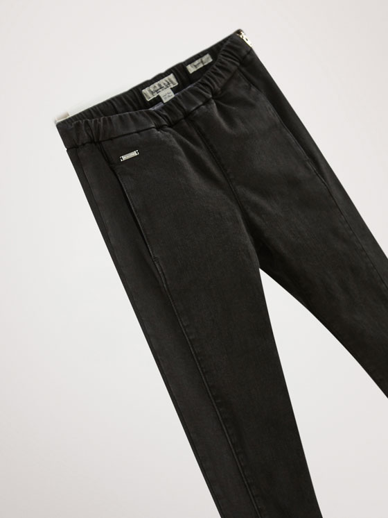Massimo Dutti - JEAN NOIR COUTURES COUPE SKINNY - 3