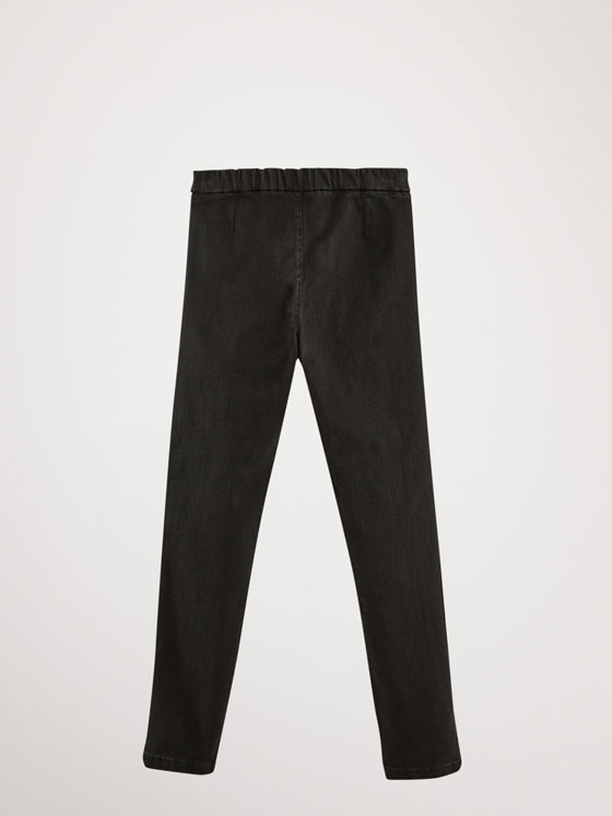 Massimo Dutti - JEAN NOIR COUTURES COUPE SKINNY - 5