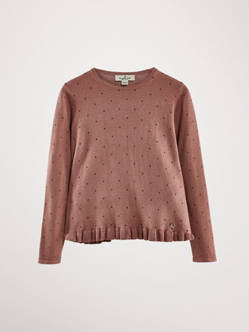 POLKA DOT COTTON SWEATER
