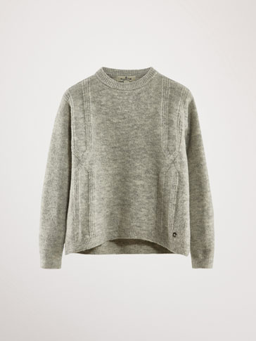 TEXTURED FRONT SWEATER