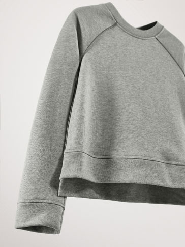 COTTON SWEATSHIRT WITH CONTRAST PIPING