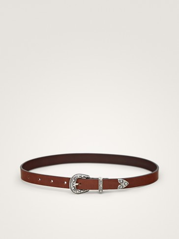LEATHER COWBOY BELT