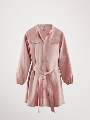 LYOCELL DRESS WITH FLAPS