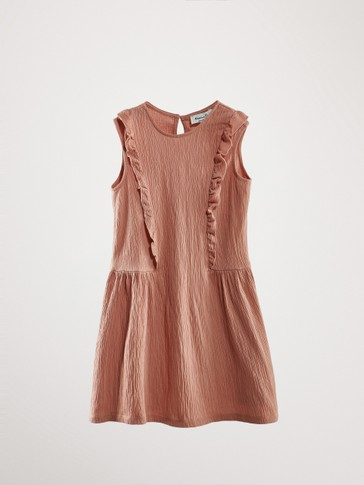 TEXTURED DRESS WITH RUFFLES