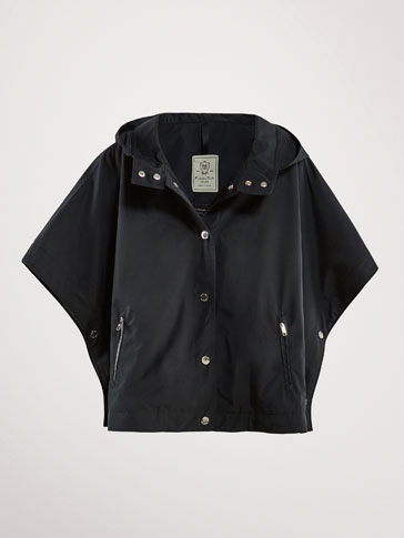 NAVY BLUE TECHNICAL CAPE