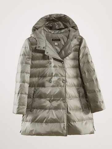 LONG HOODED DOWN PUFFER JACKET