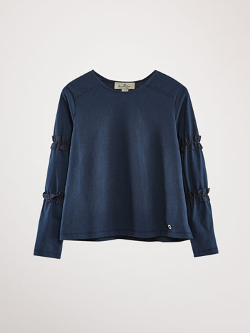 GROSGRAIN COTTON T-SHIRT