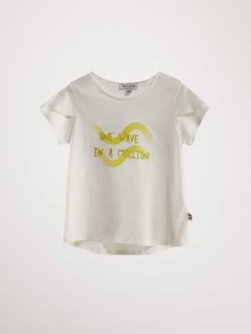 100% KATOENEN T-SHIRT ONE WAVE