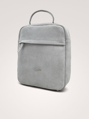 PLAIN SPLIT SUEDE BACKPACK