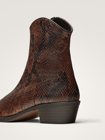 c98d554bf173 ANIMAL PRINT ANKLE BOOTS - Women - Massimo Dutti