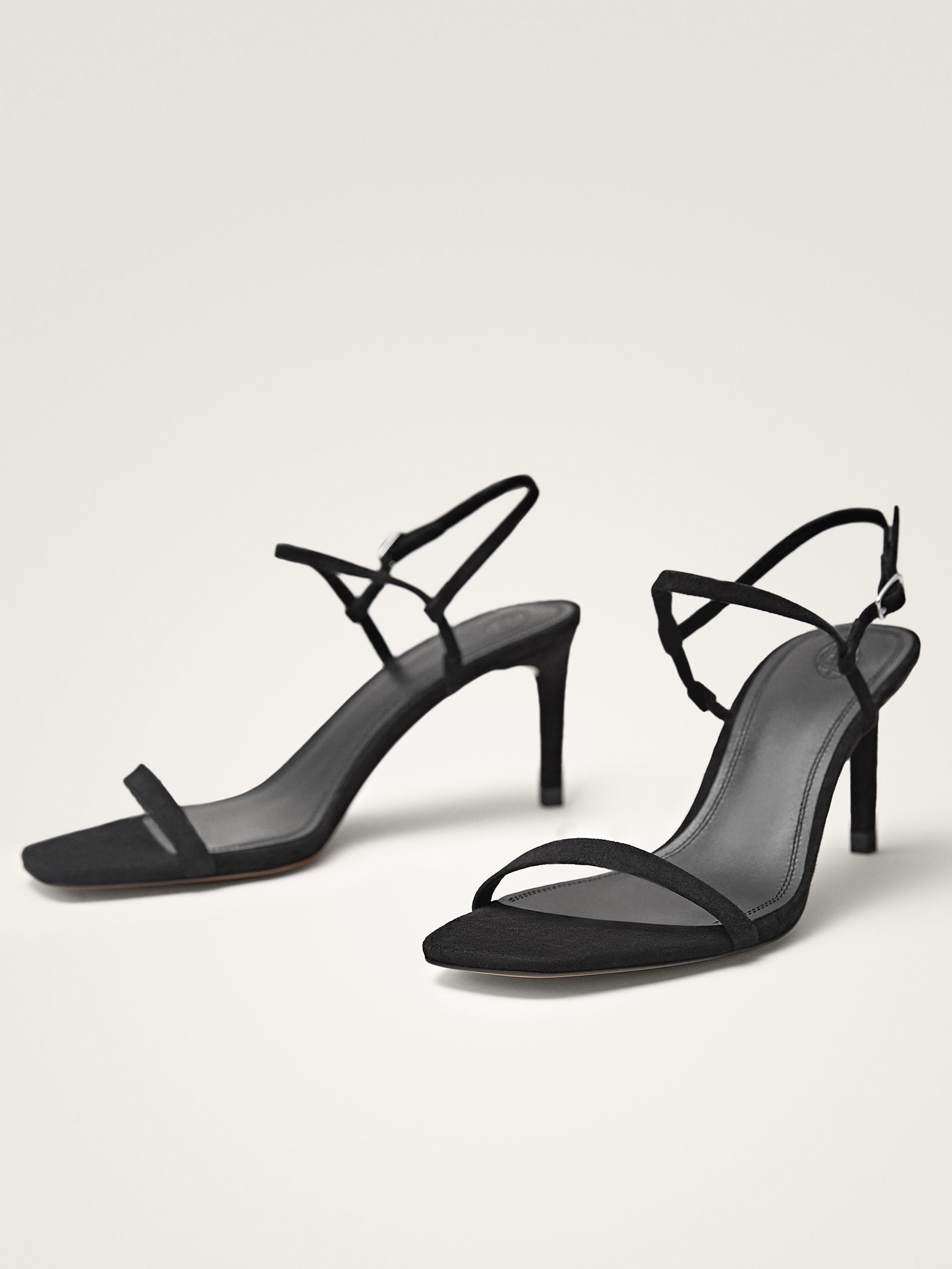 High Suede Sandals Heel Suede Black Black BdexCor