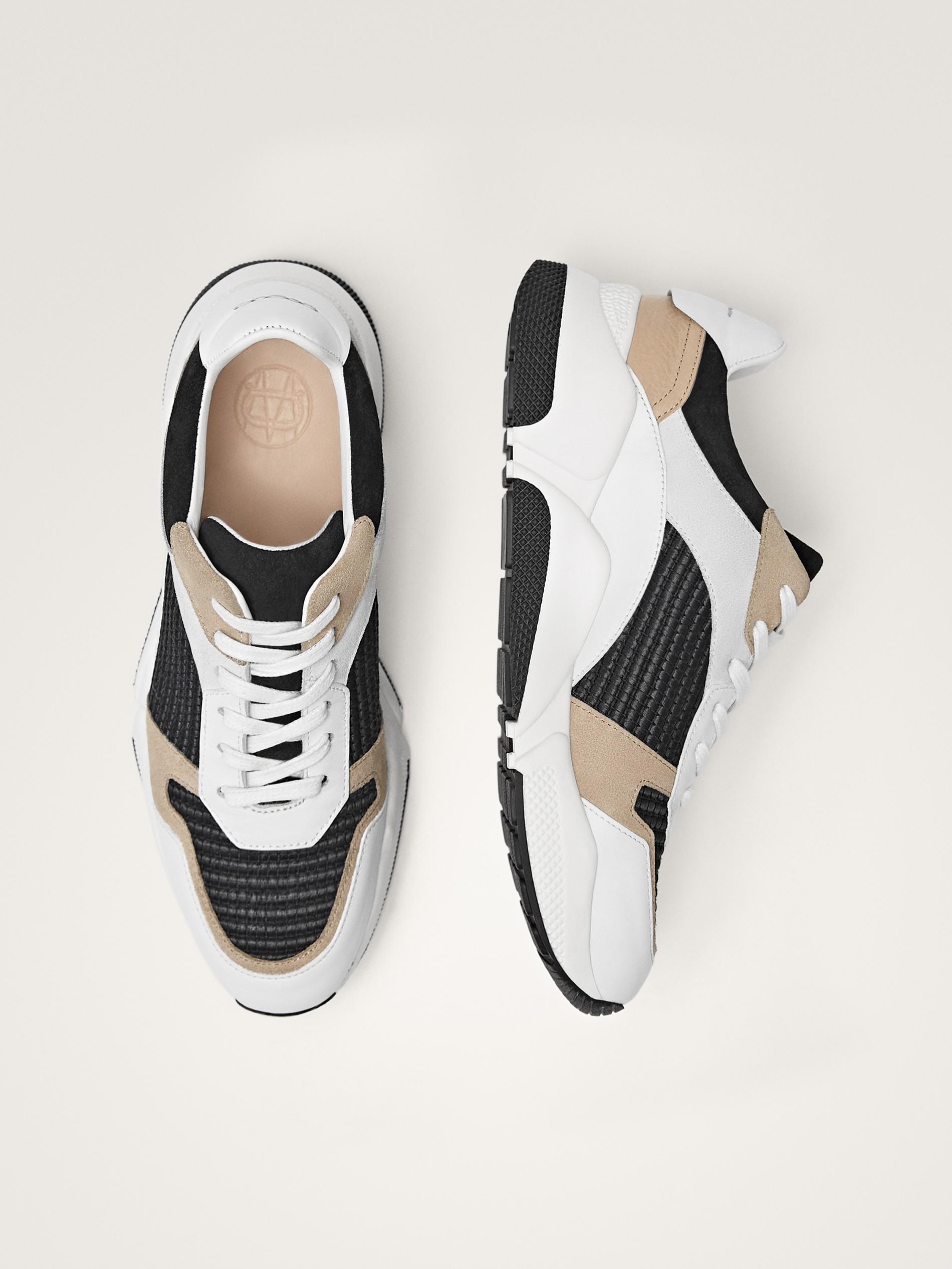 Contrast Massimo Dutti Women Sneakers Black UMpqSzV